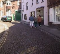 Cobbled streets of Durham